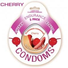 Endurance Condoms - Cherry