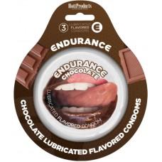 Endurance Condoms - Chocolate 3pk