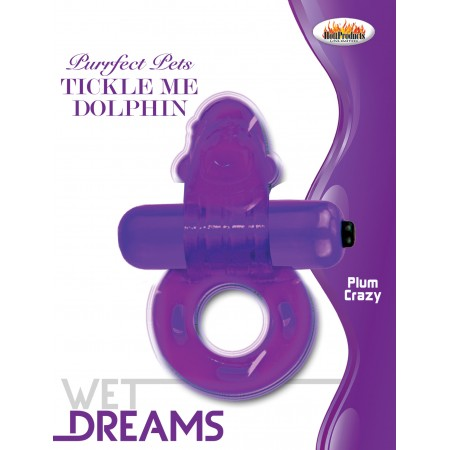 Tickle Me Dolphin Cock Ring (Purfect Pets Series purple)