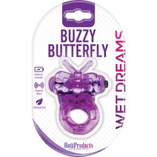 Buzzy Butterfly Cock Ring (Purfect Pets Series purple)