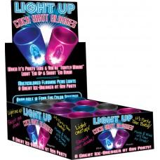Light Up Cock Shot Glasses Display (assorted)