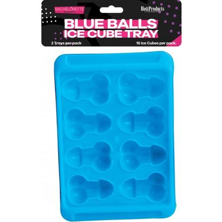 Blue Balls - Penis & Balls Shaped Ice Cube Tray