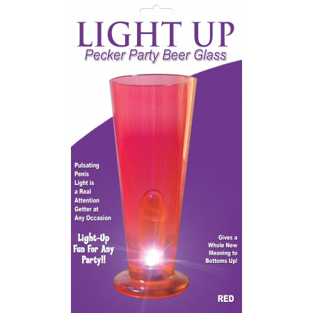 Beer Glass LIGHT UP (Red)