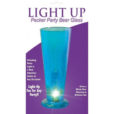 Beer Glass LIGHT UP (Blue)