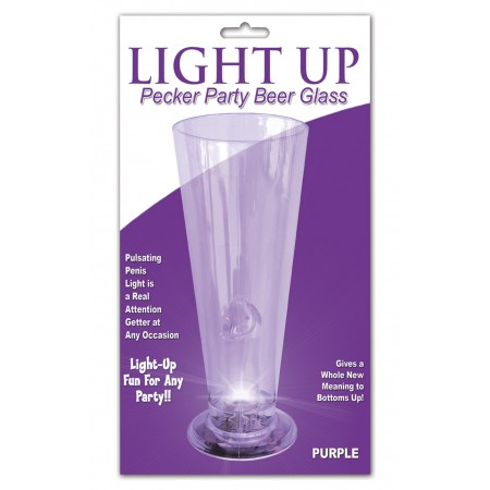 Beer Glass LIGHT UP (Purple)