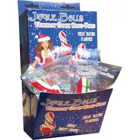 Jingle Balls Holiday Cock Ring Pops (display)