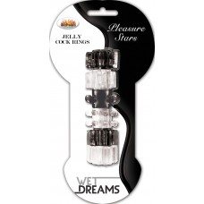 Jelly Stars Cock Ring (Black & Clear)