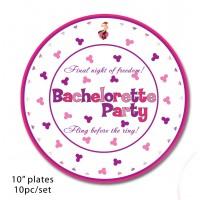 """Bachelorette Party 10"""" Plates"""