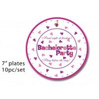 """Bachelorette Party 7"""" Plates"""