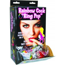 Rainbow Candy Cock Finger Ring Display