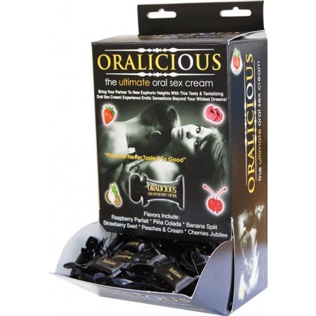 Oralicious Flavored Oral Sex Cream (144pc Pillows Display)