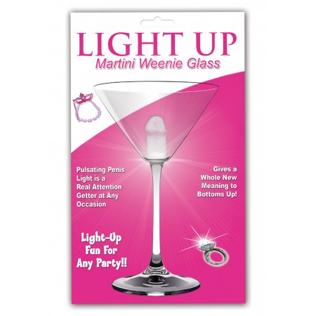Martini Weenie Glass LIGHT UP (Clear)