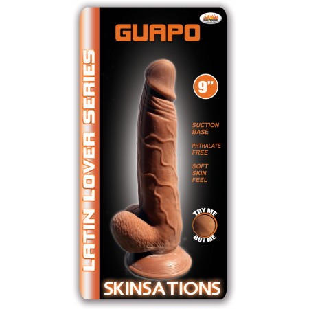 "Guapo 9"" Suction Cup Dildo (Latin)"
