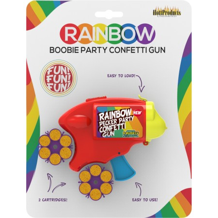 Rainbow Boobie Party Confetti Gun
