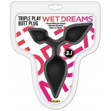 Triple Play Butt Plug (black)