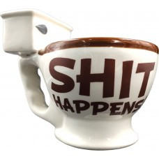 """Shit Happens"" Toilet Coffee Mug"