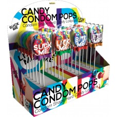 Candy Condom Pops (24pc Display)