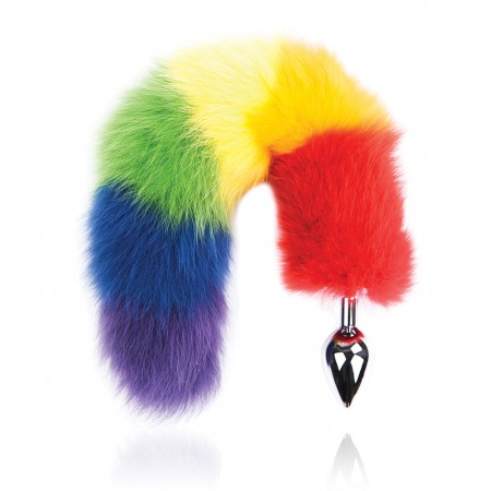 Rainbow Foxy Tail Butt Plug