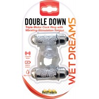 Double Down Vibrating Cock Ring