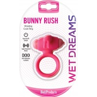 Bunny Rush Vibrating Cock Ring  (pink)