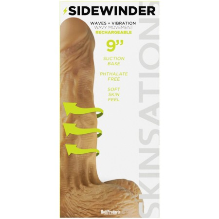 Sidewinder - Skintastic Series Rechargeable - 9 inch