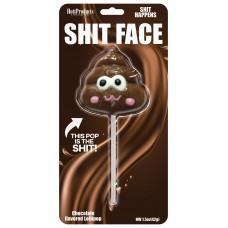 Shit Face Chocolate Lollipop