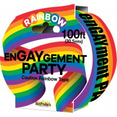 Caution Rainbow Tape (enGAYment party)