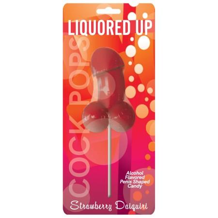 Liquored Up Cock Pops (Strawberry Daiquiri)